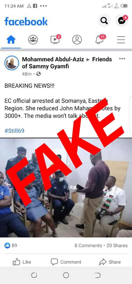 No Official Has Been Arrested In Somanya – Electoral Commission