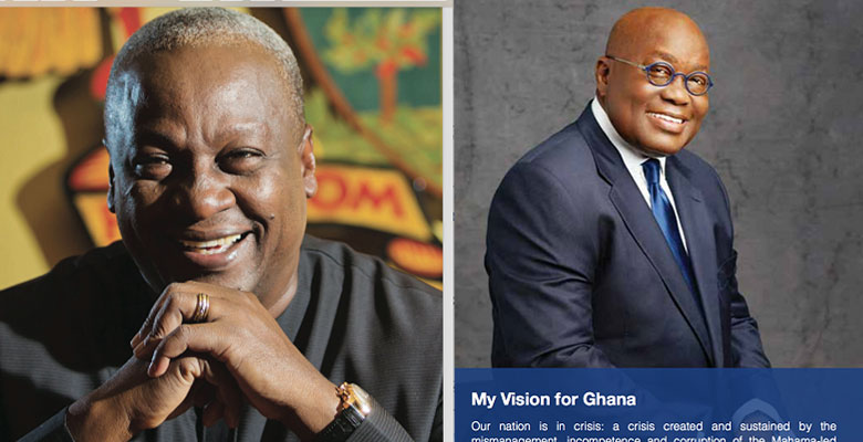 Mahama's funny make-up and Akufo-Addo's 'dishonest' photo
