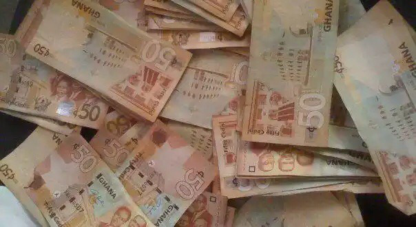The Ghana cedi notes.