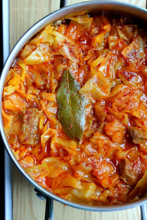 How to prepare Cabbage stew