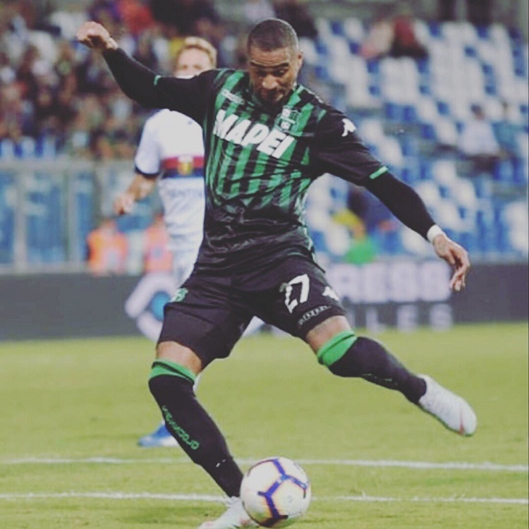Ghanaian forward Kevin-Prince Boateng has found the back of the net in his side, Sassuolo's 5-3 victory over Genoa in the Italian Serie A over the weekend.