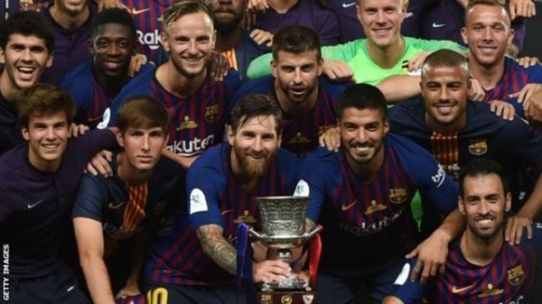 Barcelona captain Lionel Messi has now won a record 33 trophies with the club - one ahead of Andres Iniesta