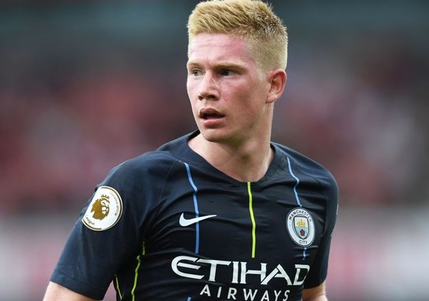 Kevin De Bruyne injured his knee in training