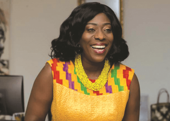 Tourism Minister, Catherine Afeku spotted at Becca' wedding