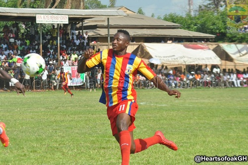 Hearts striker Joseph Esso