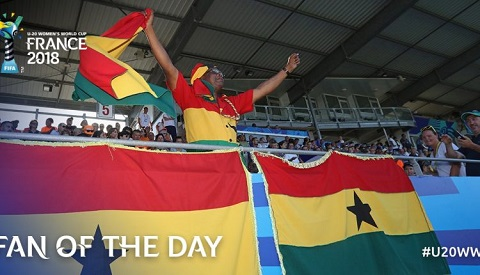 Abraham Boakye has been named the fan of the day in the Black Princesses defeat to France