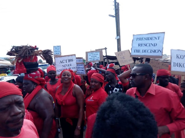 United Krobo Foundation in Somanya  protest