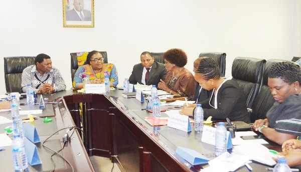 Dr. Annor, CEO of NHIA, [Far left] interacting with the Tanzania delegation