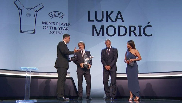 Luka Modric wins Uefa's Men's Player of the Year award