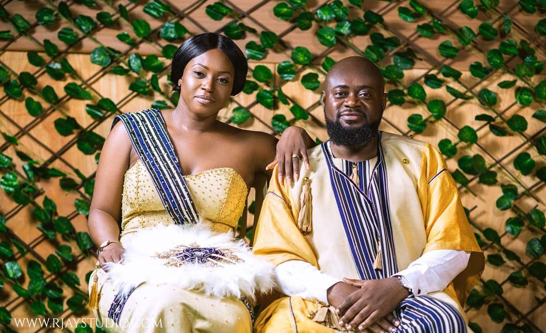 Sammy Forson tire knot with Pearl Yahaya