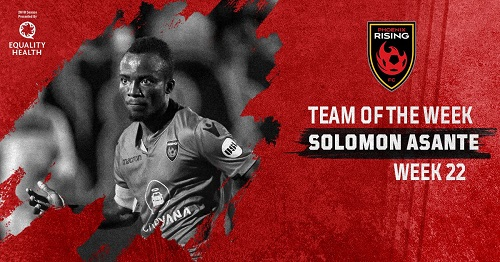 Solomon Asante named in USL Team of the Week after netting a hattrick