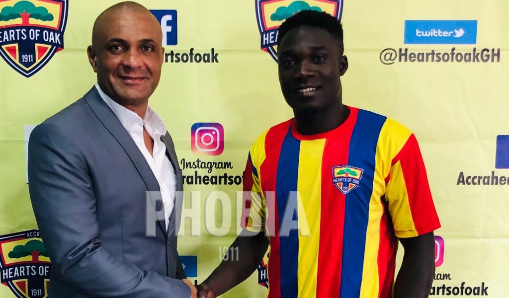 Hearts Of Oak 100% right to sign Dominic Eshun- Agent