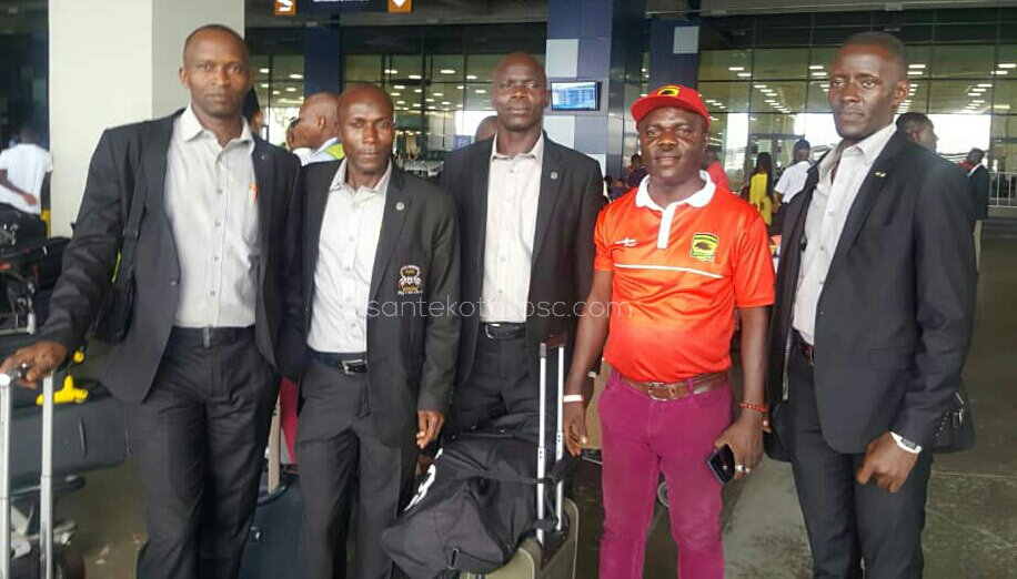 CAF CC: Ugandan officials arrive in Ghana ahead of Kotoko and Sharks return tie