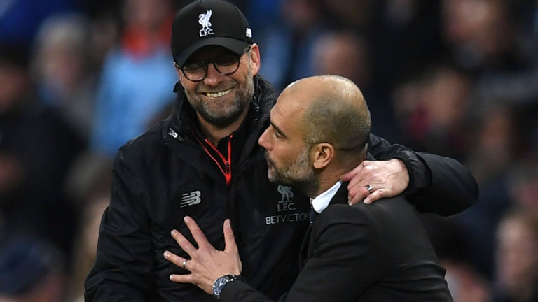 Jurgen Klopp says Pep Guardiola's side are world's best