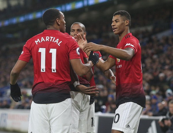 Man Utd thrash Cardiff in Solskjaer's first game as manager