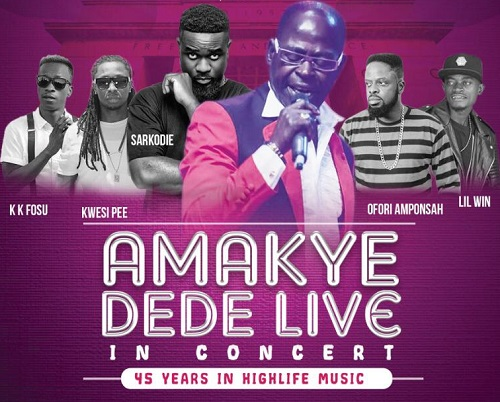 Amakye Dede Marks 45 years of his career with Concert in Kumasi Tonight