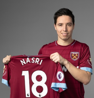 West Ham confirm signing of Samir Nasri on short-term deal