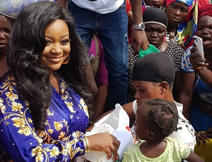 Jackie Appiah donates to market women as she celebrates her birthday