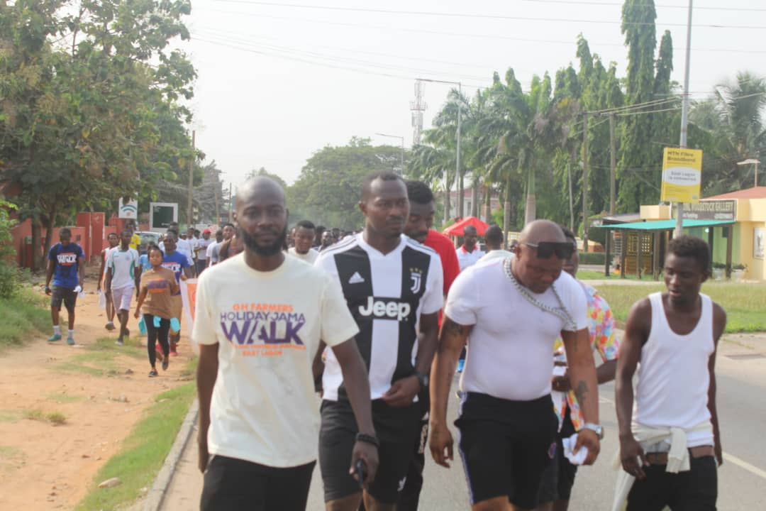 Bukom Banku, Kwame Bee and others joins Gattuso at East Legon fruits and vegetables jama walk