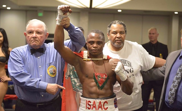 Isaac Dogbe has flown out to train in London