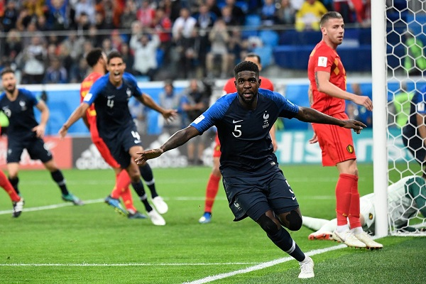 France beat Belgium 1-0 in Russia 2018