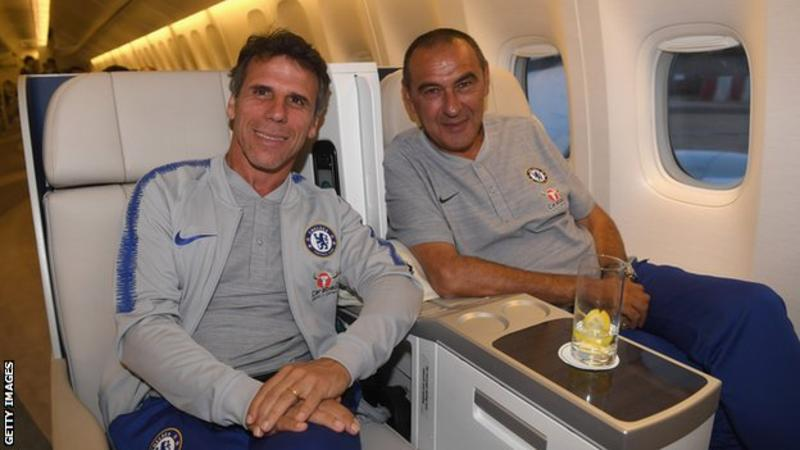 Gianfranco Zola (left) has managed three times in England since retiring as a player - at West Ham, Watford and Birmingham