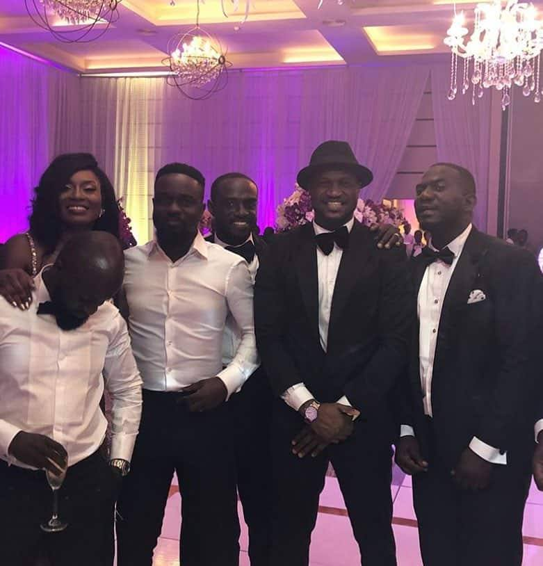 All stars storm Sarkodie and Tracy's white wedding