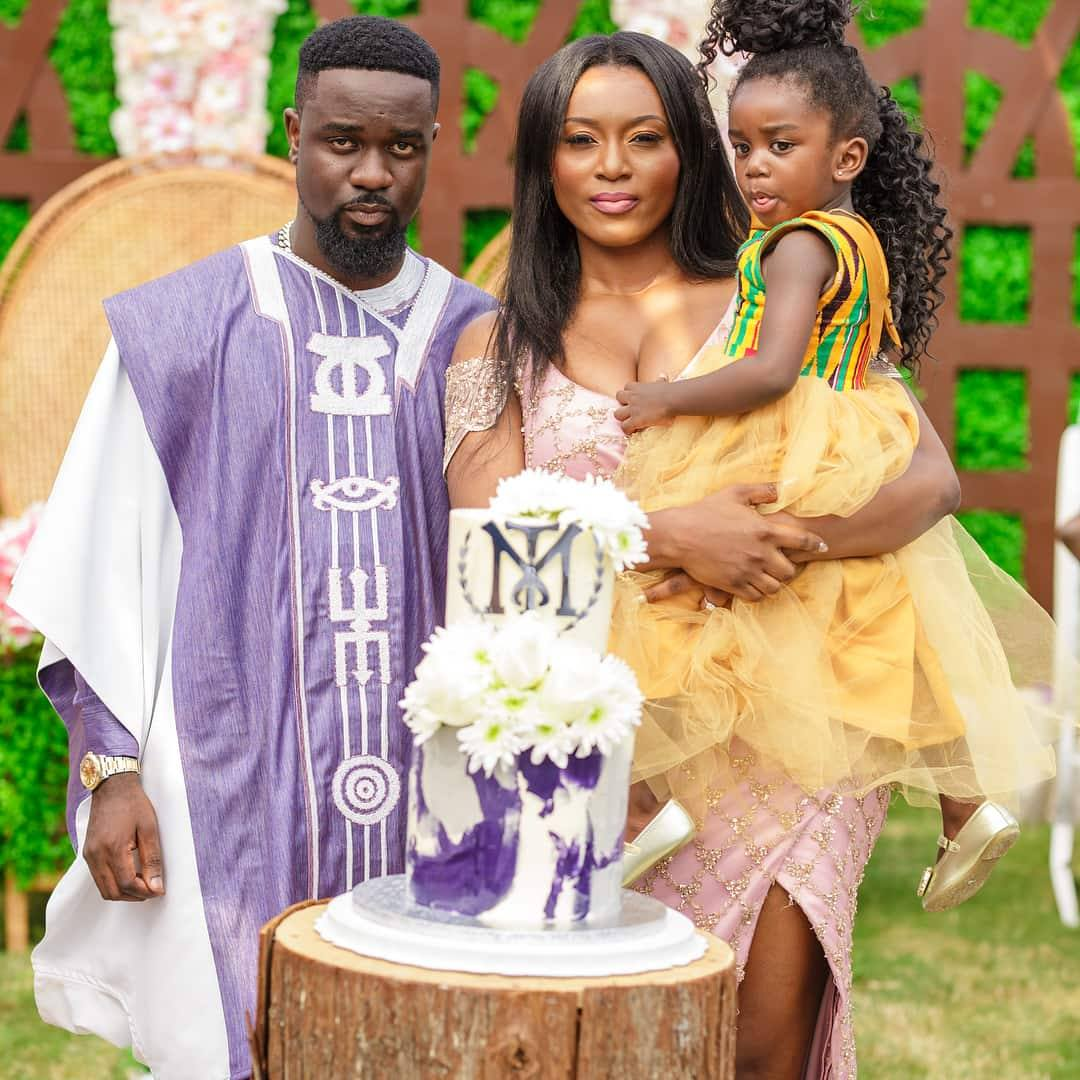 Lovely photos of Sarkodie's wife Tracy and daughter Titi