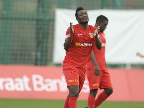 Asamoah Gyan scores for Kayserispor in pre-season friendly