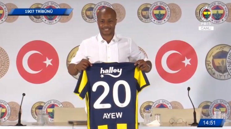 Andre Ayew officially joins Fenerbahçe