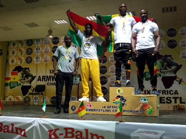 Some winners at the 9th Africa Armwrestling Championship
