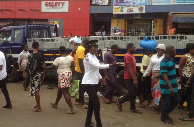 Ashaiman: Traders sacked from traffic light area after accident