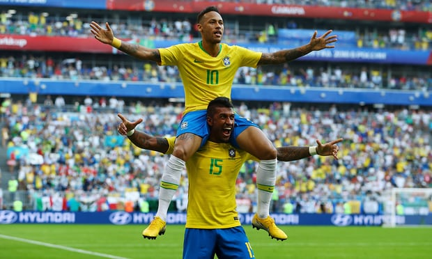 Brazil beat Mexico 2-0 in Russia 2018