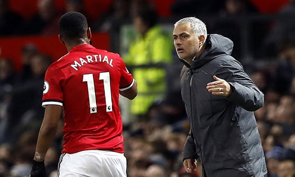 Jose Mourinho unsure when Anthony Martial will return