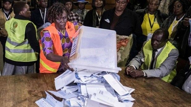 Zimbabwe elections: Vote-counting process underway
