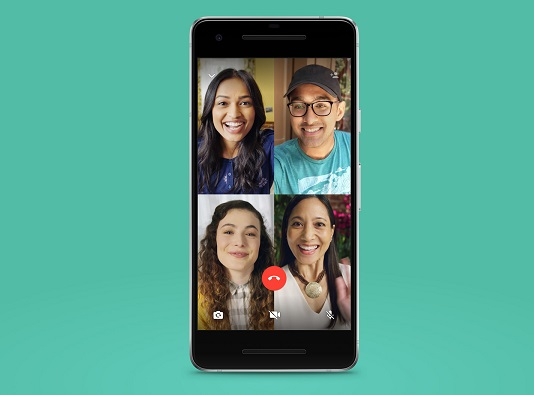 WhatsApp launches four-person group video calling