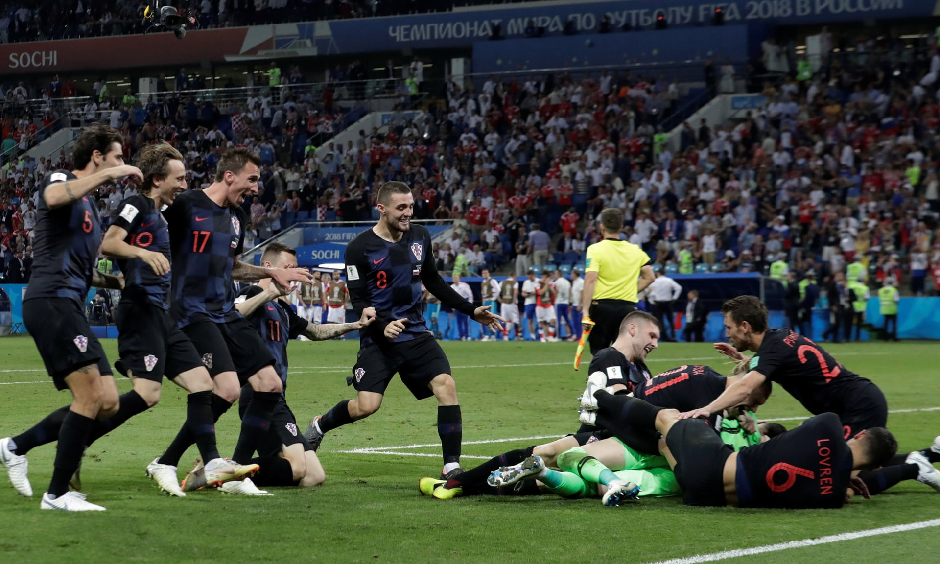 Croatioa beat Russia on Penalties to make semis