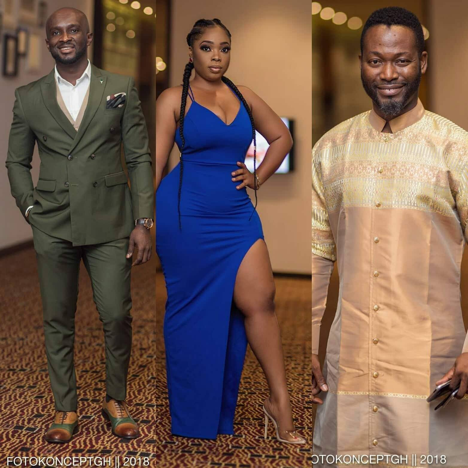 Here are some best dressed celebrity at the Ghana Football Awards
