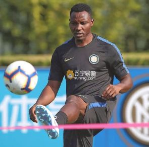 Kwadwo Asamoah trains with Inter Milan for the first time