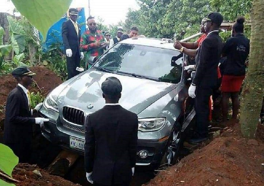 Man buries Father in luxurious $90,000 BMW