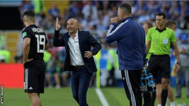 Jorge Sampaoli has been in charge of Argentina since June 2017