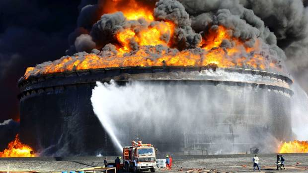 Oil depots entirely destroyed in Libya after military attacks