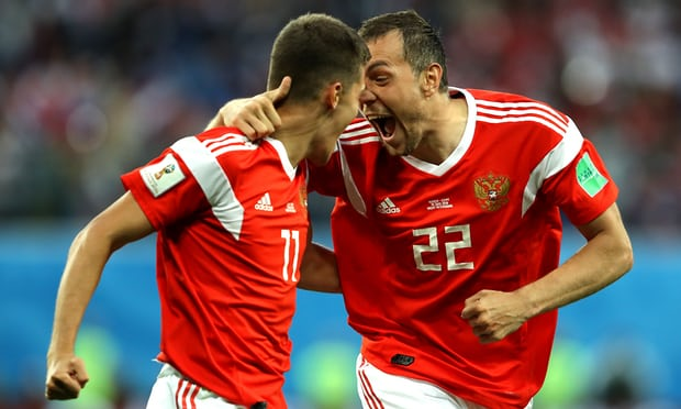 Egypt  loss 3-1 to Russia