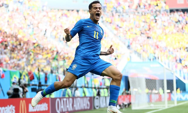 Brazil beat Costa Rica 2-0 in Russia 2018