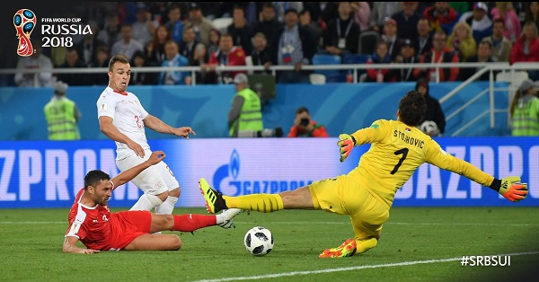 Switzerland beat Serbia 2-1 in Russia 2018