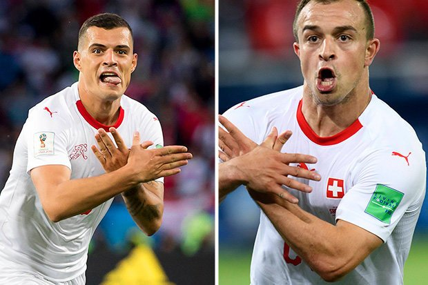 Granit Xhaka (left) and Xherdan Shaqiri both play their football in England E-mail