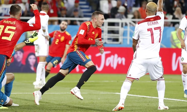 Spain draw 2-2 with Morocco