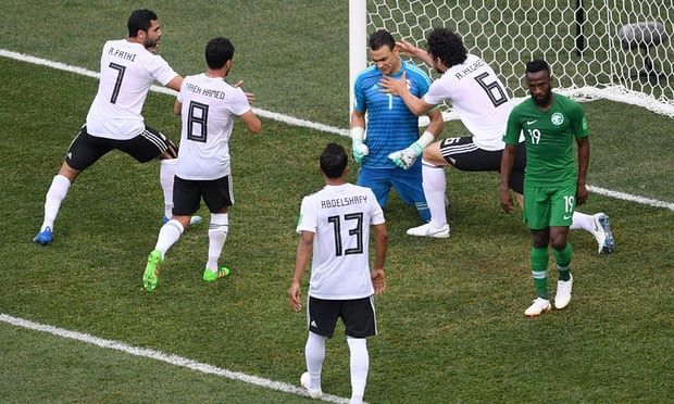 Egypt beat Saudi Arabia 2-1 in Russia 2018