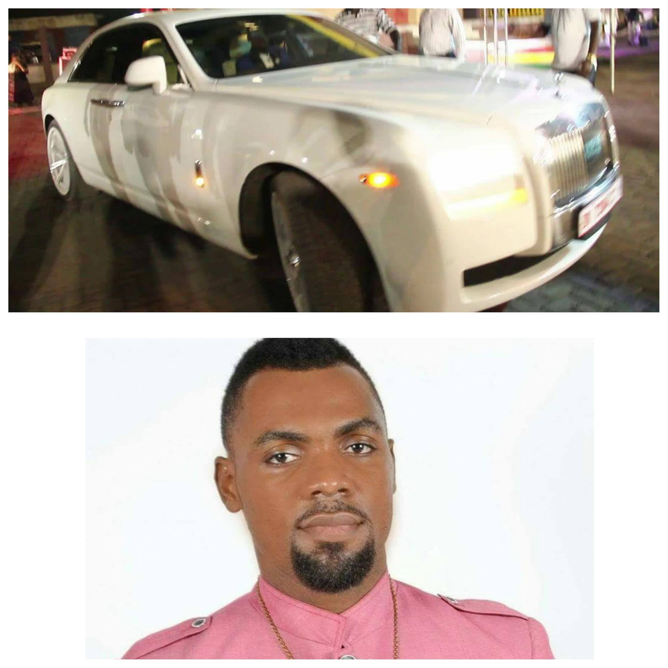 Rev Obofour show off his new rolls-royce ghost