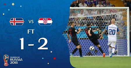 Croatia beat Iceland by 2-1 in Russia 2018